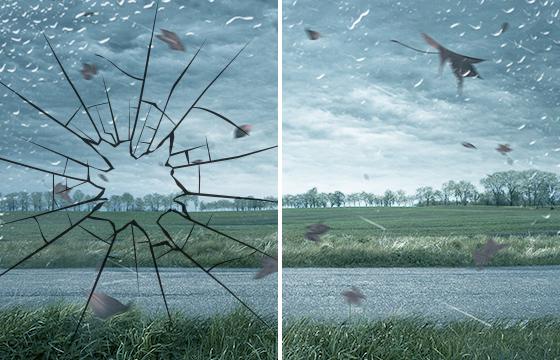 台風や強風時の飛来物に強いガラスと弱いガラス(板硝子協会サイト)